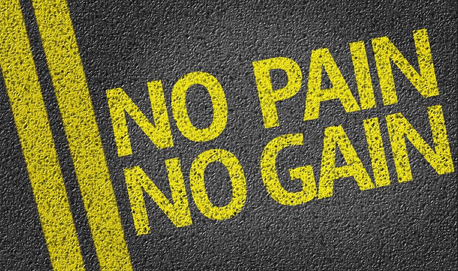 No Pain No Gain napísaný na ceste