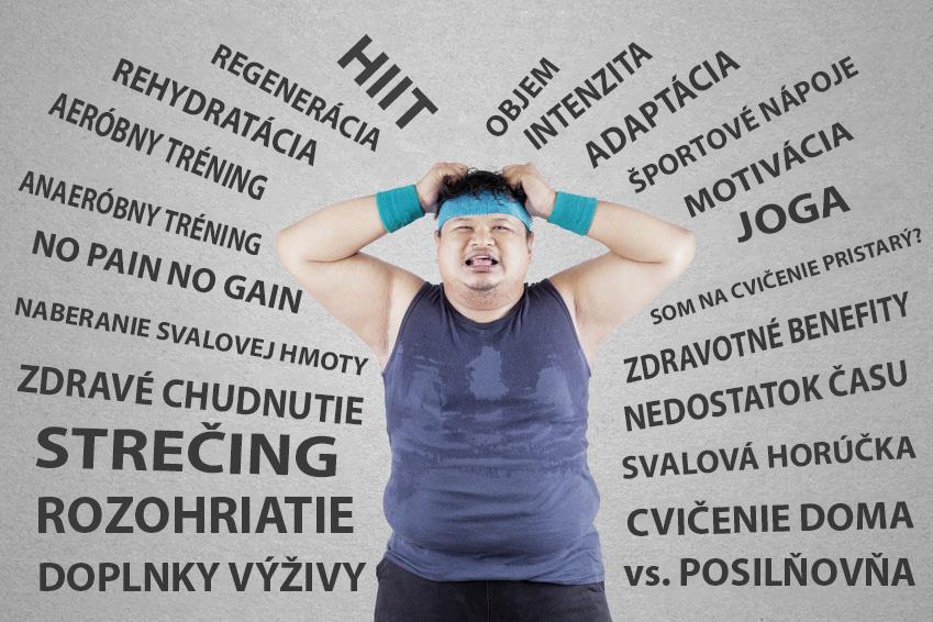 Vystresovaný muž má problém s nadváhou
